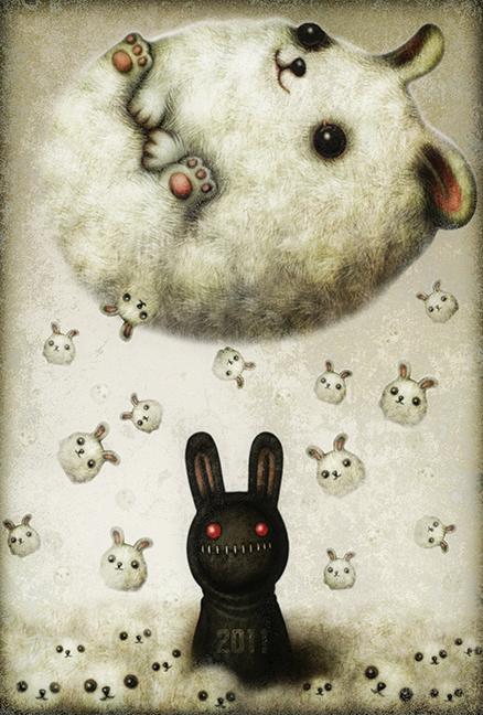 2011 New Year Greetingcard Artwork - shichigoro-shingo