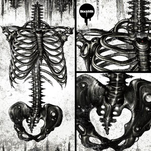 BlackMilk x shichigoro – Mechanical White Ribs Swimsuit 4