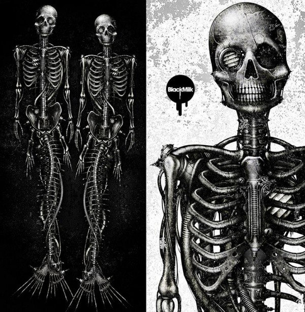 BlackMilk x shichigoro – Mechanical Mermaid Leggings - Artwork