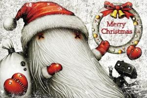 クリスマスカードのイラスト - shichigoro-shingo