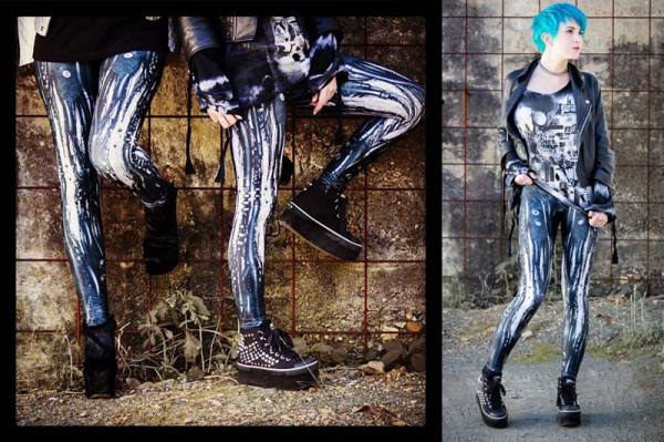 BlackMilk x shichigoro – Mechanical Leggings 2